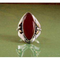 Coral stone ring,Gemstone Ring,Sterling Silver Ring