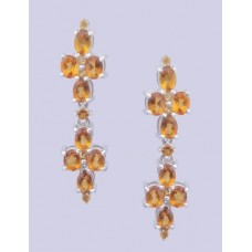 925 sterling silver earring with Citrine Stone,ER-0030