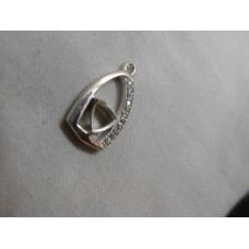 925 Sterling Silver Mount Pendent shape-Trillion,Mpe-0024