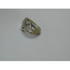 925 Sterling Silver Mount Ring, Round Shape, MRI-0273