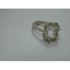 925 Sterling Silver Mount Ring, Silver Ring, MRI-0192