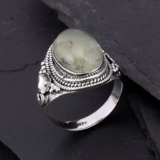 prenite gemstone ring 925 sterling silver handmade ring