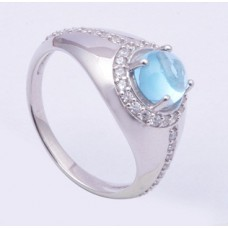 925 Sterling Silver Ring Studded With Sparkling Cubic Zirconia, Silver Ring, RI-0045