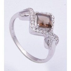 925 Sterling Silver Ring, Studded With Sparkling Cubic Zirconia, Silver Ring, Ri-0054