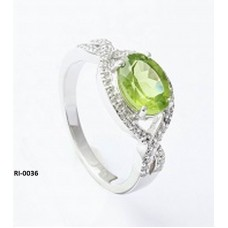 925 Sterling Silver Ring Studded With Sparkling Cubic Zirconia, RI-0036