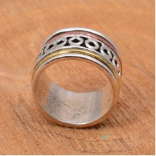 Meditation spinner ring, silver spinner ring
