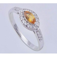 Topaz Gemstone with 925 sterling silver ring, Shape- Marquise, Ri-0104