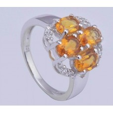 Citrine Gemstone,925 sterling silver Ring,Ri-0126