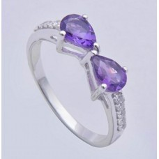 Amethyst Gemstone,925 Sterling Silver Ring,Ri- 0130