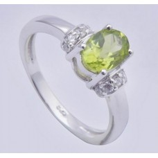 925 Sterling Silver Ring Peridot Gemstone,Ri-0148