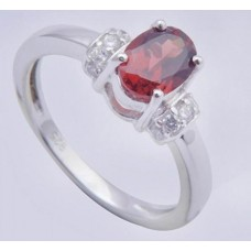 925 Sterling Silver Ring, Amethyst Gemstone, Shape- Oval, RI-0148