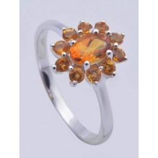 925 sterling silver ring with Citrine Gemstone,Ri-0150