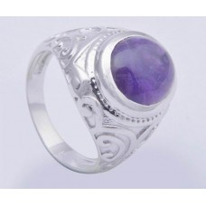 925 Sterling Silver Ring with Corniline Stone, Shape- Oval, RI-0153