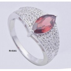925 Sterling Silver Ring, Rhodolite Garnet Gemstone, Silver Ring, RI-0161