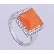 Coroline Gemstone, 925 Sterling Silver Ring, Square Shape, RI-0246