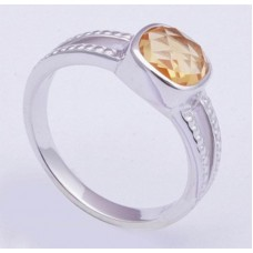 Citrine Gemstone, 925 Sterling Silver Ring, RI-0308