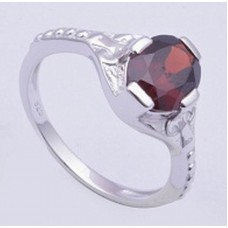 Silver Ring with Garnet Gemstone, RI-0313