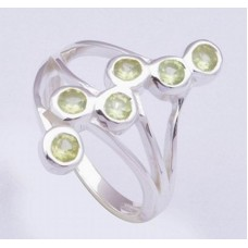 Peridot Gemstone, 925 Sterling Silver Ring, RI-0316