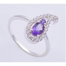 Amethyst Gemstone, 925 Sterling Silver Ring, RI-0318