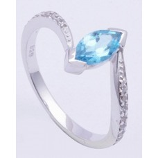 925 Sterling Silver Ring Studded With Sparkling Cubic Zirconia, Silver Ring, RI-0052