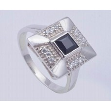 Garnet Gemstone,925 Sterling Silver Ring, Square Shape, RI-0094